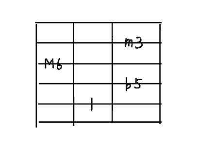 コード用5弦dim